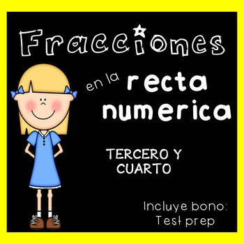 Fractions on Number Line in Spanish / Fracciones en la recta numérica