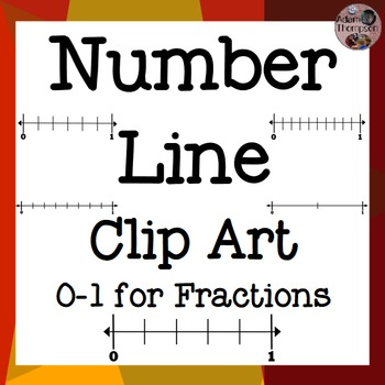 Fractions on Number Lines Clip Art