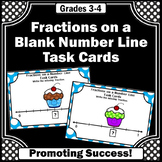 Fractions on a Number Line Task Cards, 3rd Grade Math Review