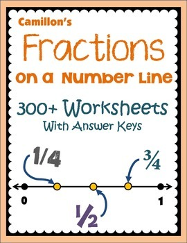 Identifying, Placing Fractions On A Number Line Worksheets
