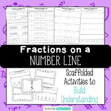 Fractions on a Number Line - No Prep Fraction Activities