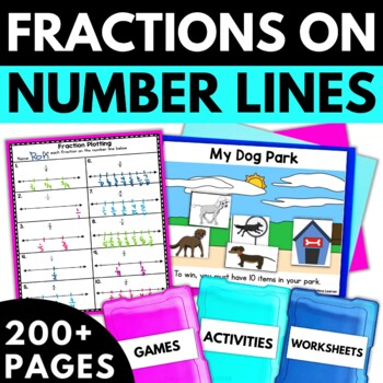 Fractions on A Number Line - Fraction Activities Worksheets Games