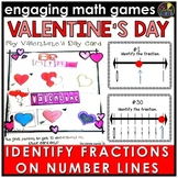 Valentine's Day Fractions on a Number Line Game