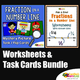 Using Numberlines, Fraction Line Plot Worksheets And Task Cards Bundle