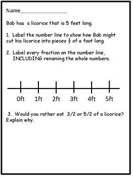 Math:Fractions on a Number Line