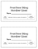 Fractions on a Number Line - 3rd Grade Assessment - 3.NF.2