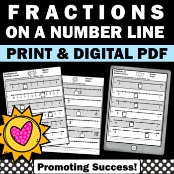 Fractions on a Number Line Activities, 3rd Grade Fraction Worksheets