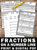 Fractions on a Number Line Worksheets, 3rd Grade Valentines Day Math Activities