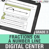 Fractions on a Number Line - 3rd Grade Digital Math Center