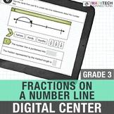 3rd Grade Digital Math Center Fractions on a Number Line Google Slides 3.NF.2