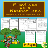 Fractions on a Number Line---Includes Number Lines Greater Than 1