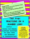 Fractions on a Number Line: 4in1 Bundled Set: Tests and Worksheet Sets 1, 2, & 3
