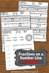 Fractions on a Number Line 3rd Grade Math BUNDLE Task Cards Worksheets