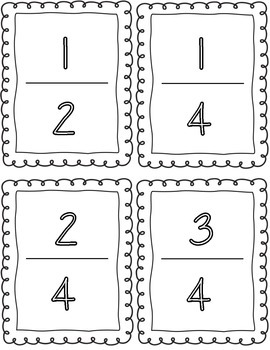 Fractions on a Number Line Activity CCSS 3.NF.2