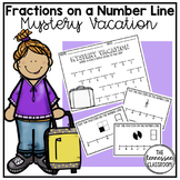 Fractions on a Number Line Task Cards: 3rd Grade Activity