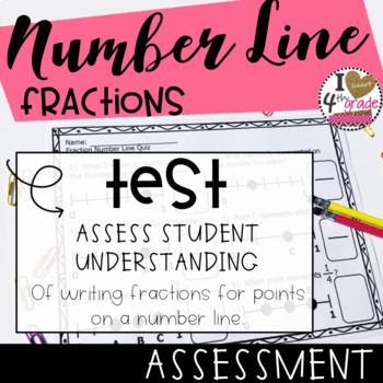 Fractions on a Number Line Assessment
