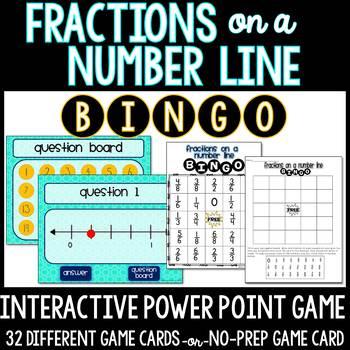 Fractions on a Number Line No-Prep BINGO