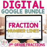 Fractions on a Number Line BUNDLE for Google Classroom