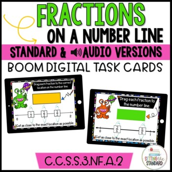 Fractions on a Number Line Boom Cards