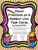Fractions on a Number Line (CCSS and STAAR Aligned)
