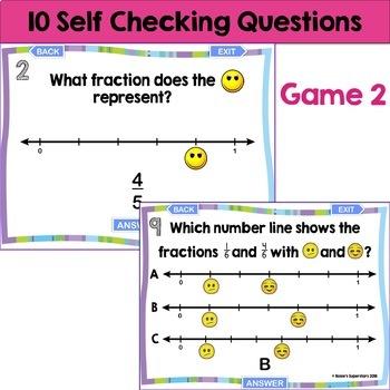 Fractions on a Number Line Digital Games