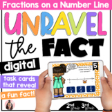 Fractions on a Number Line Digital Math Game   2nd Grade   3rd Grade