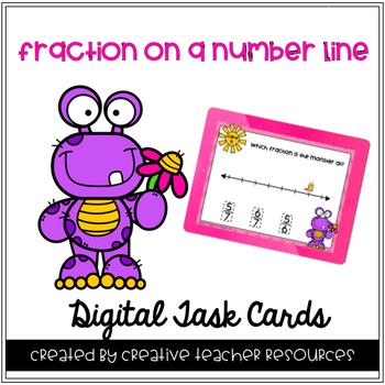 Fractions on a Number Line Digital Task Cards