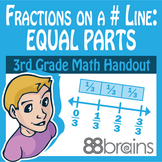 Fractions on a Number Line - Equal Parts pgs. 25 - 27 (Common Core)