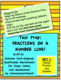 Fractions on a Number Line: Fraction Set 1: Halves, Fourths, Eighths