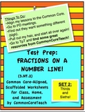 Fractions on a Number Line: Fraction Set 2: Thirds and Sixths