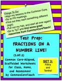 Fractions on a Number Line: Fraction Set 3: Fifths and Tenths