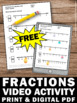 FREE Fractions on a Number Line 3rd Grade Math Review Worksheet and Video