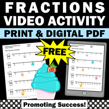 free fractions on a number worksheet 3rd grade kids
