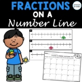 Fractions on a Number Line Greater Than 1 Task Cards