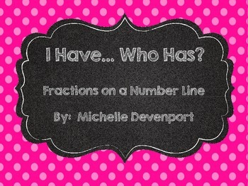 Fractions on a Number Line- I have Who Has Game
