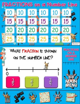 Fractions on a Number Line Jeopardy Style Game Show