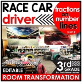 Fractions on a Number Line Math Game - Race Car Real World