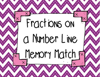 Fractions on a Number Line Memory Match