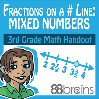 Fractions on a Number Line - Mixed Numbers pgs. 38-40 (CCSS)