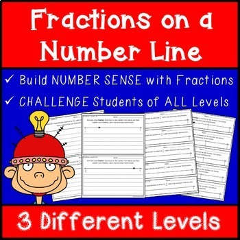 Fractions on a Number Line - Number Sense and Challenge