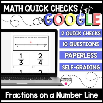 Fractions on a Number Line Paperless Google Quick Checks   3.NF.2