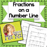 Fractions on a Number Line Practice Pages *4th Grade Everyday Math*