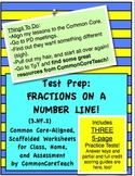 Fractions on a Number Line: Practice Tests (Tests For Sets 1, 2, and 3)