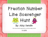 Fractions on a Number Line Scavenger Hunt {3.NF.A.2a, 3.NF.A.2b}