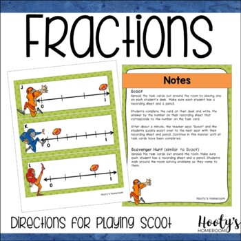 Fractions on a Number Line - Scavenger Hunt