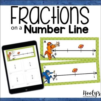 Fractions on a Number Line - Scavenger Hunt