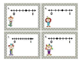 Fractions on a Number Line Scoot or Shuffle Activity CCSS 3.NF.2