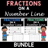 Fractions on a Number Line Task Card Bundle