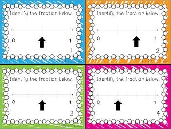 Fractions on a Number Line {Task Cards}
