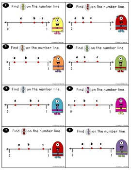 Fractions on a Number Line Task Cards Distance Learning